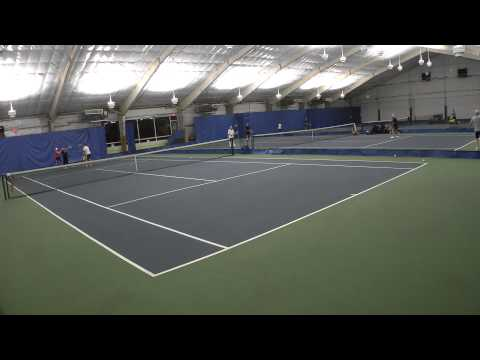 2015-04-09 - Tennis lesson - Maryna and Gabi with Eugene