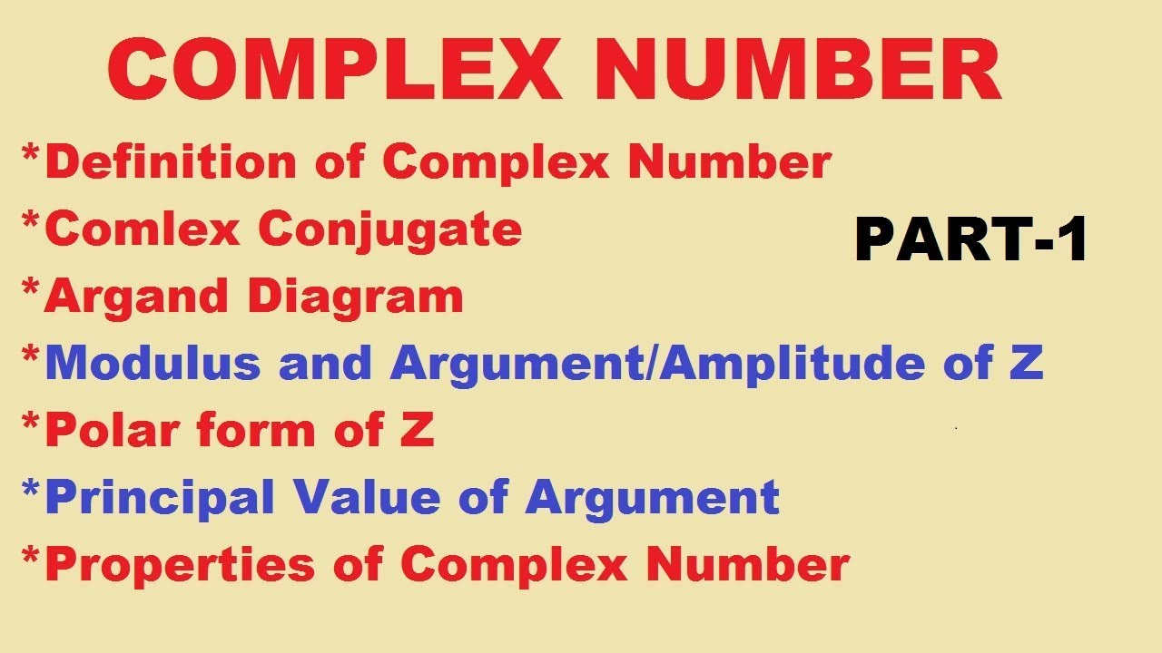 COMPLEX NUMBERS DEFINITION PDF DOWNLOAD