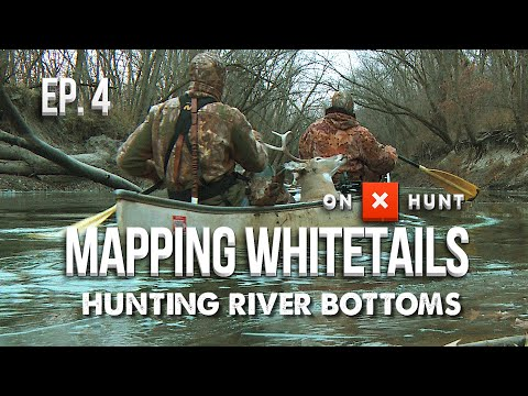 HOW TO HUNT RIVER BOTTOMS! - Mapping Whitetails