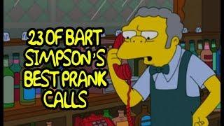 Bart Simpson en İyi eşek Şakası 23 Çağrıları