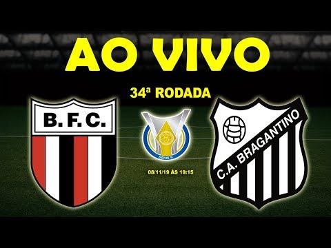 Botafogo-SP x Bragantino Ao Vivo | Brasileirão Série B | 34ª Rodada
