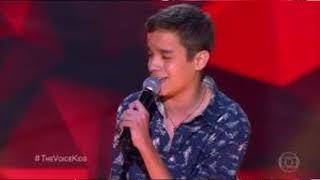the voice kids brasil gabriel ciríaco canta cazuza o tempo não para