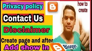 Create Privacy policy /contact us page/disclaimer page and about us page in blogs and website Mp3