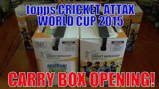 SMASHED IT! ☆ BOOSTER BOX opening ☆ Topps CRICKET ATTAX ICC WORLD CUP 2015 Trading Cards