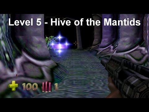 Turok 2 - Seed of Evil: Level 5 - Hive of the Mantids (Speedrun) [4K]