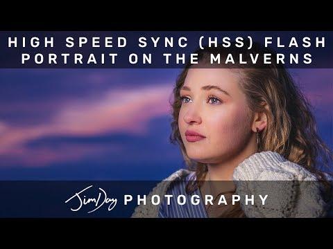 High Speed Sync (HSS) Flash Portrait Photography on the Malvern Hills