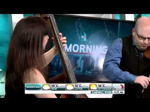 Mark Fewer with Jodi Proznick on Global TV