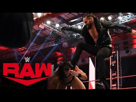 Seth Rollins viciously Stomps Drew McIntyre: Raw, April 13, 2020