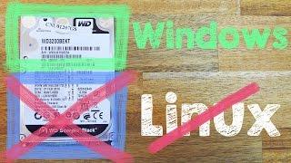 Linux löschen / deinstallieren + Bootmanager Grub löschen ohne Windows CD DVD, Dualboot entfernen
