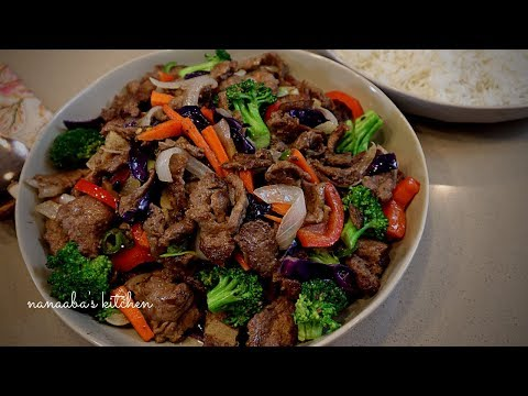 How To Make The Best BEEF And VEGETABLES STIR FRY  I Cooking Stir Fry No Talking  I Asmr