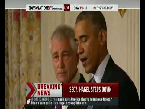 Breaking News President Obama Announces The Resignation of Chuck Hagel as Defence Secretary