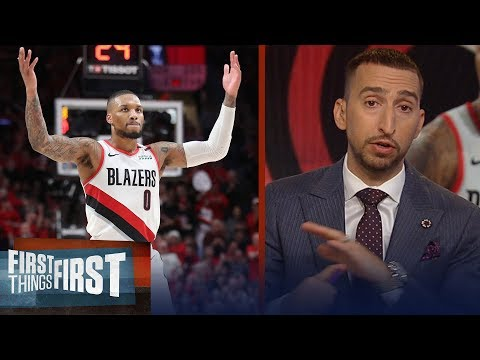 Damian Lillard is impressive in Blazers-Thunder series - Nick Wright | NBA | FIRST THINGS FIRST