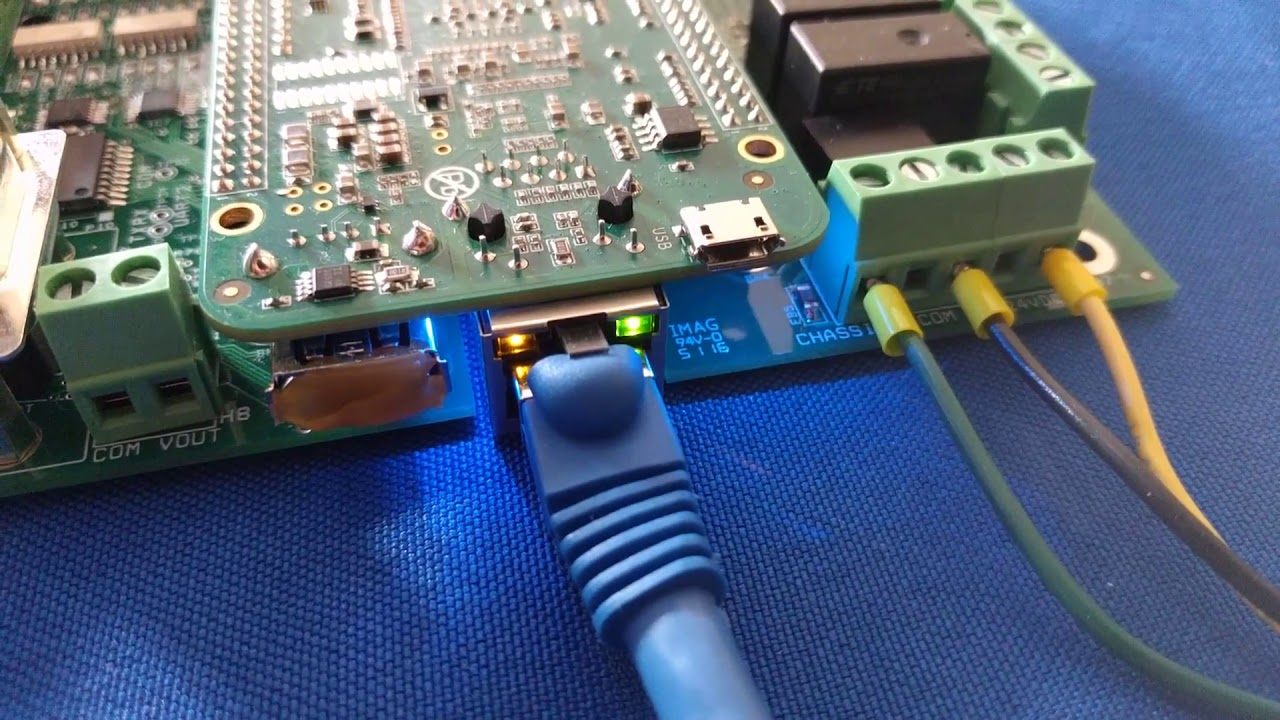 Centroid Acorn Ethernet and Firmware Heartbeat status LED lights explained