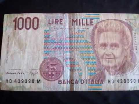 Banco D´italia 1000 Lire MILLE 3 de Outubro de 1990