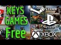 How to get Free Games Steam, Xbox and PS4 - Get Free Key Pubg, Free Key NBA2k18