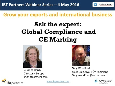 Webinar: CE Marking and Global Technical Compliance