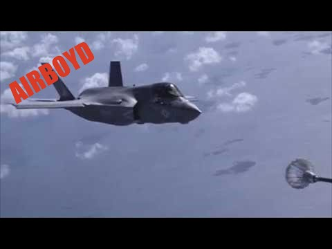 AV-8B Harrier And F-35B Aerial Refueling