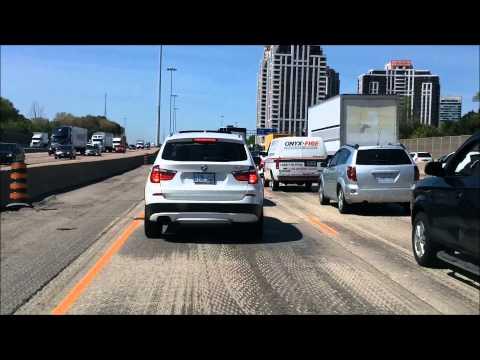 Toronto Tourism: Highway 401 (Westbound) & Highway 400 (Northbound) - The Traffic Edition