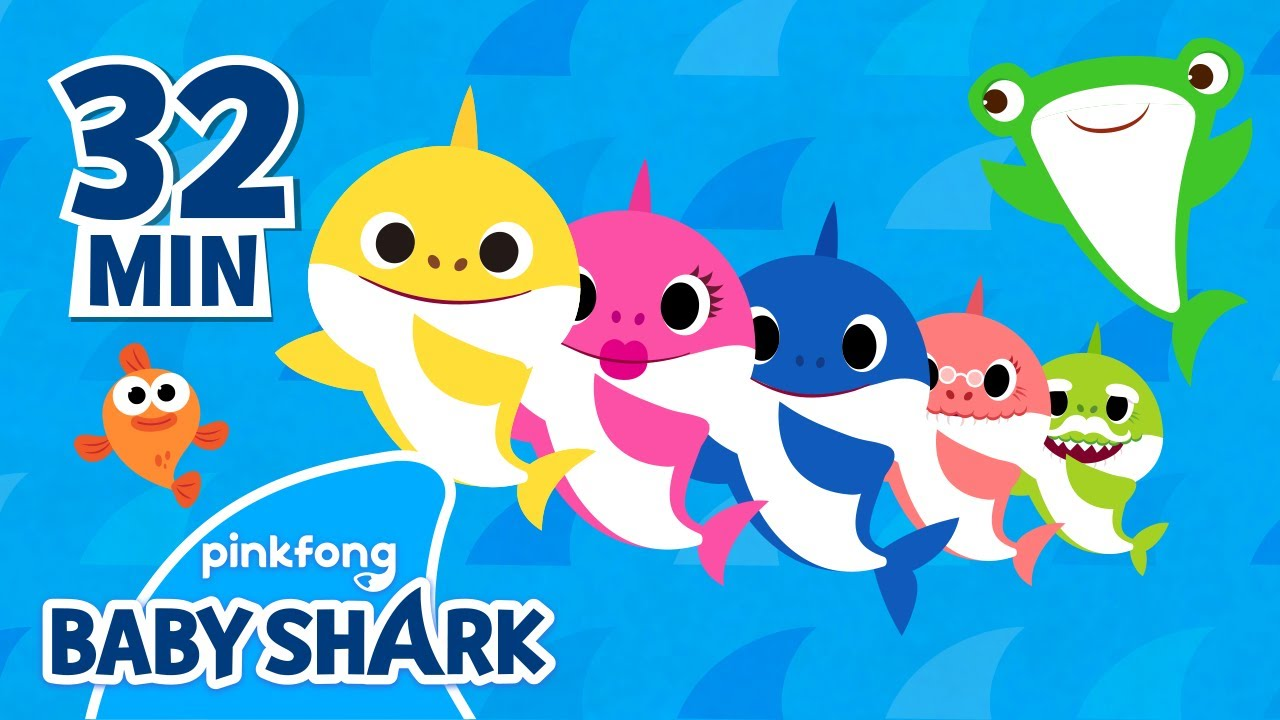 The Shark Family and more | +Compilation | Shark Week | Save the Marine Life | Baby Shark Official