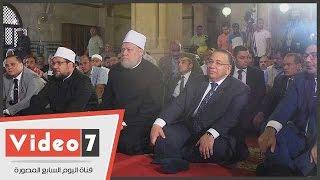 بالفيديو..بحضور وزير الأوقاف وعلى جمعه ..تشديدات أمنية بمحيط مسجد فاضل