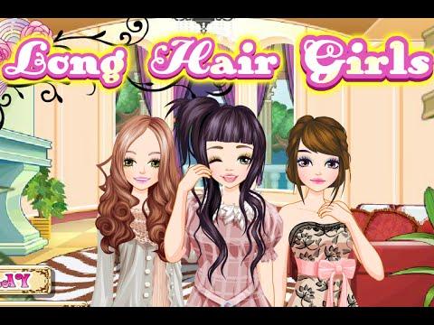 chicas de pelo largo, juegos de vestir y maquillar - youtube
