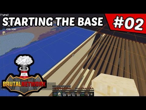 Setting Up the Base!! | BrutalFactions #2 (Minecraft Factions)