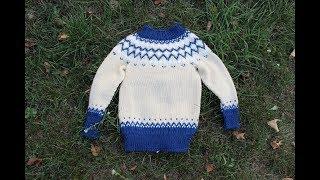 Детский свитер по мотивам лопапейса. Готовая работа