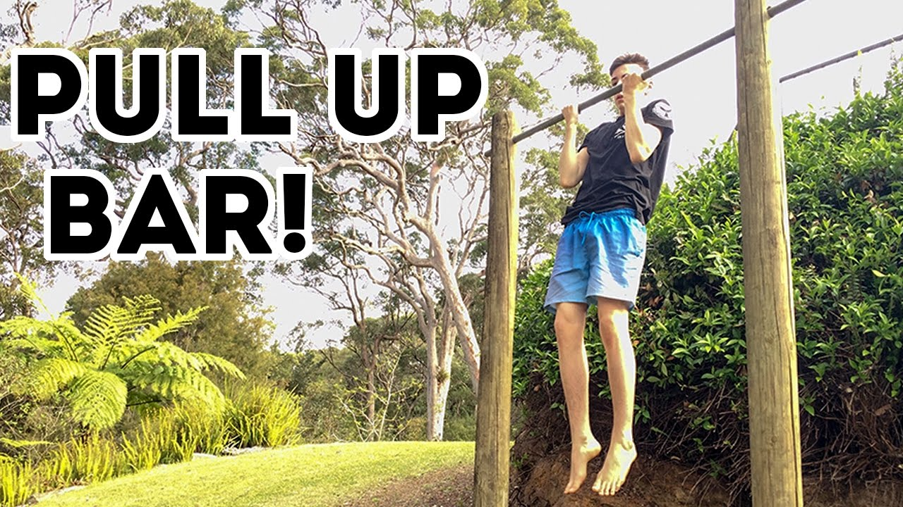 diy outdoor pull up bar how to build a pull up bar youtube