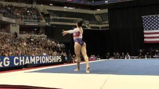 Aly Raisman – Floor Exercise – 2015 P&G Championships – Sr. Women Day 2