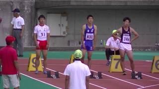第70回国民体育大会陸上競技石川県予選会少年男子A100m決勝