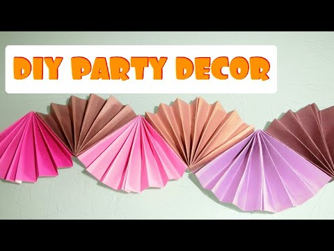 ✨DIY BIRTHDAY/ PARTY DECORATION|| WALL DECOR EASY CRAFT AT HOME