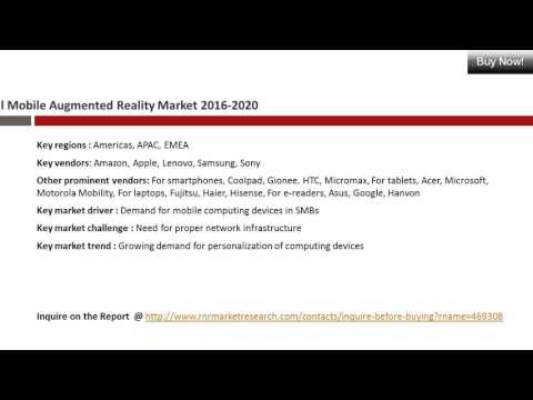 Mobile Augmented Reality Market Global Forecasts for 2016 – 2020
