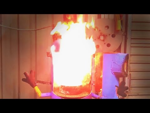 Burning Waste Oil can be dangerous. Burning oil and water don't play well together.