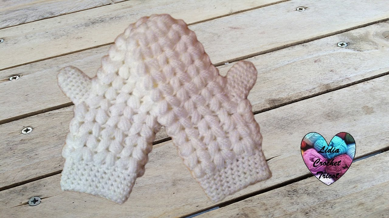 produit chaud pas cher à vendre fréquent Moufles épis de blé facile toutes tailles crochet / Manoplas tejidas a  crochet