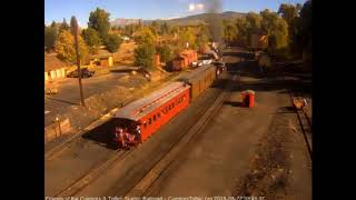 9/22/2018 The 315 departs Chama, NM with a 2 car train