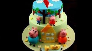 Torta Peppa Pig,come decorare una torta di compleanno, TUTORIAL SEMPLICE