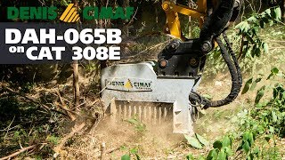 CAT 308E and DAH-065B - The small mulcher and powerful mulcher