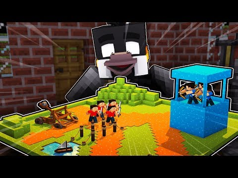 Minecraft - RED VS BLUE FORT DEFENSE CHALLENGE! (Minecraft Tower Defense)