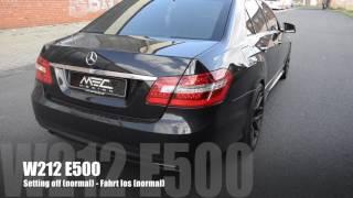 MEC Design Mercedes W212 E500 Exhaust - Sound Version Earthquake
