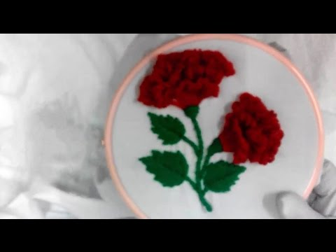 Hand Embroidery - Cock Flower Stitch