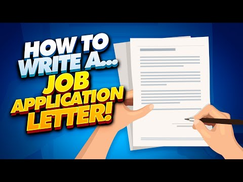 Writing A Job Application Letter! (4 TIPS, Words & Phrases + JOB APPLICATION LETTER TEMPLATES!)
