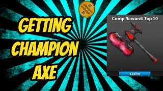 Getting The Champion Axe In Roblox Assassin