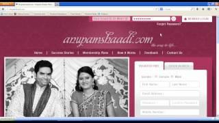 How do I Login On indian matrimonial website anupamshaadi.com