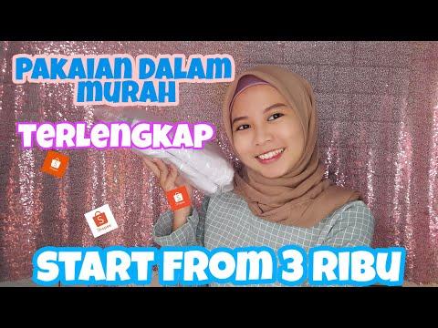 SHOPEE HAUL - UNBOXING PAKAIAN DALAM MURAH START FROM 3 RIBU RUPIAH !!!