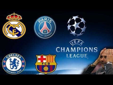 Sorteo UEFA CHAMPIONS LEAGUE - Barcelona Vs Chelsea - Real Madrid Vs PSG