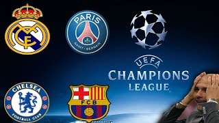 Sorteo UEFA CHAMPIONS LEAGUE 2017-2018 ⚽️ Barcelona Vs Chelsea ⚽️ Real Madrid Vs PSG
