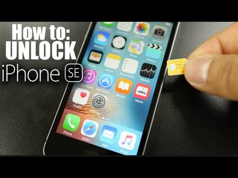 how to unlock your iphone se for use with another carrier sim card 2017 youtube. Black Bedroom Furniture Sets. Home Design Ideas