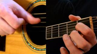 Easy Acoustic Blues Lick in E - Hammer On to the Major Third