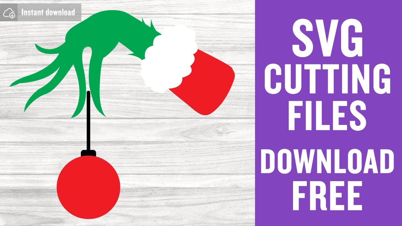 Download Grinch Hand Svg Free Cutting Files for Cricut Silhouette ...