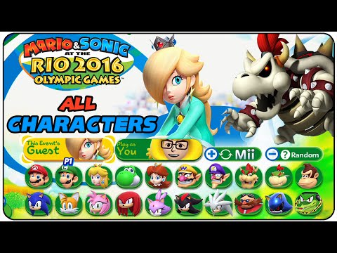 Mario & Sonic at the Rio 2016 Olympic Games - All Characters